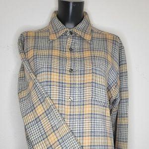 Pendleton Mens Large Plaid Shirt 100% Virgin Wool